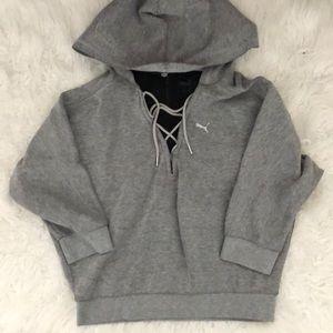 Women's Grey Puma Hoodie Size Small